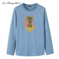 LaChapelle 拉夏贝尔 男款 纯棉宽松长袖T恤