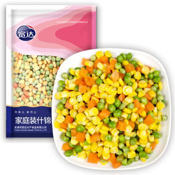 宽达 家庭装什锦杂菜 800g  甜玉米粒 青豆豌豆 胡萝卜 沙拉蔬菜 炒饭食材 半成品菜 冷冻蔬菜 *10件