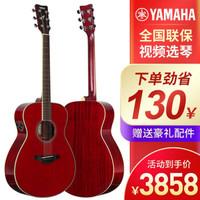 雅马哈(YAMAHA)FG830吉他单板民谣FS830面单FGX830C电箱FGTA加震FG850 FS-TA 加振功能-红宝石色40寸