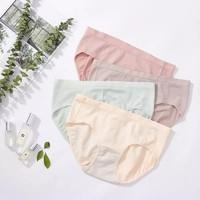LanQi 蓝琪 抗菌中低腰女士三角裤 (颜色随机 买一赠一)