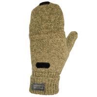 荒野探險加厚保暖半指羊毛手套 SOLOGNAC 100
