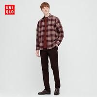 UNIQLO 优衣库 431481 男款法兰绒格子衬衫