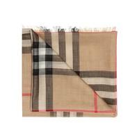 BURBERRY 巴宝莉 8018468 女士棕色格子羊毛围巾