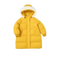 Balabala 巴拉巴拉  女童保暖羽绒服 中黄色 90cm