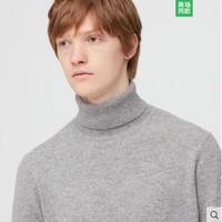 UNIQLO 优衣库 UNIQLO 男装羊绒两翻领毛衣