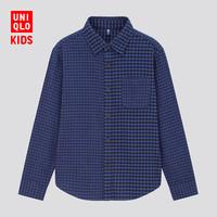 UNIQLO 优衣库 432033 儿童法兰绒格子衬衫