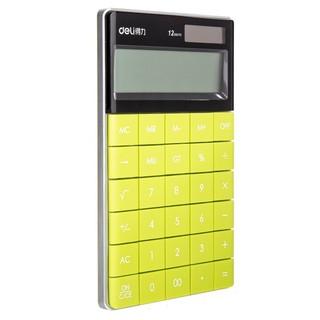 deli 得力 1589 清新款 计算器 绿色