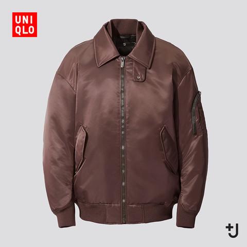 UNIQLO 优衣库 432647 男装羽绒宽松罗纹外套