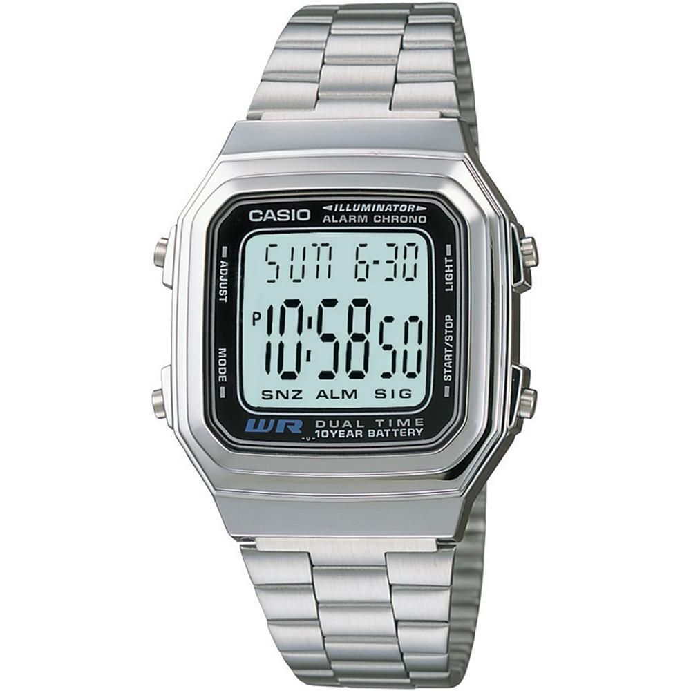 卡西欧数码不锈钢手链中性款手表32mm