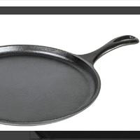 Lodge 洛极 铸铁圆形煎饼平底 黑色 26.67cm