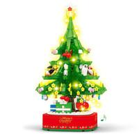 移动专享:SEMBO BLOCK 森宝积木 灯光音乐圣诞树 486颗粒