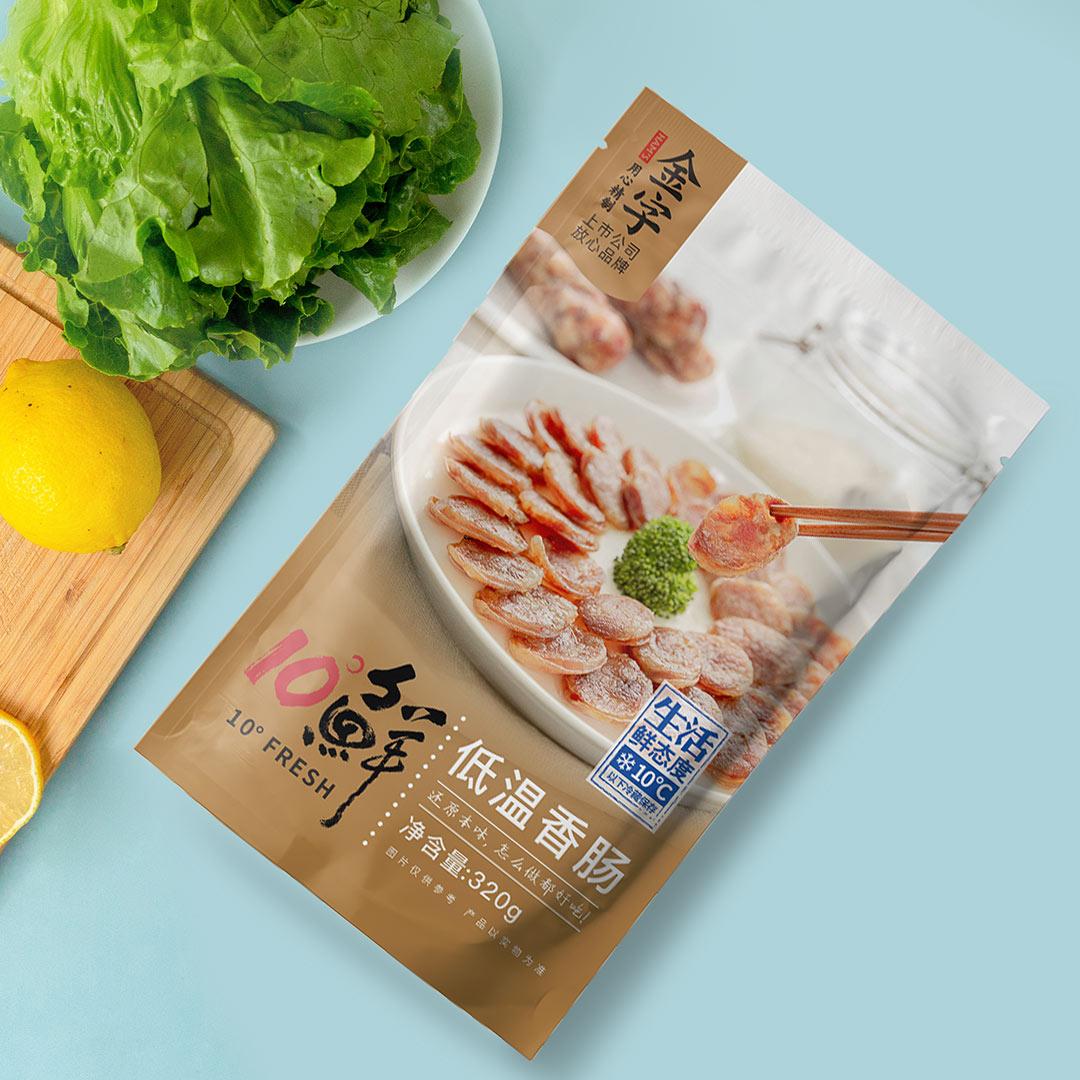 金字10度鲜香肠320g/包 低温香肠 传统手工家乡味土香肠