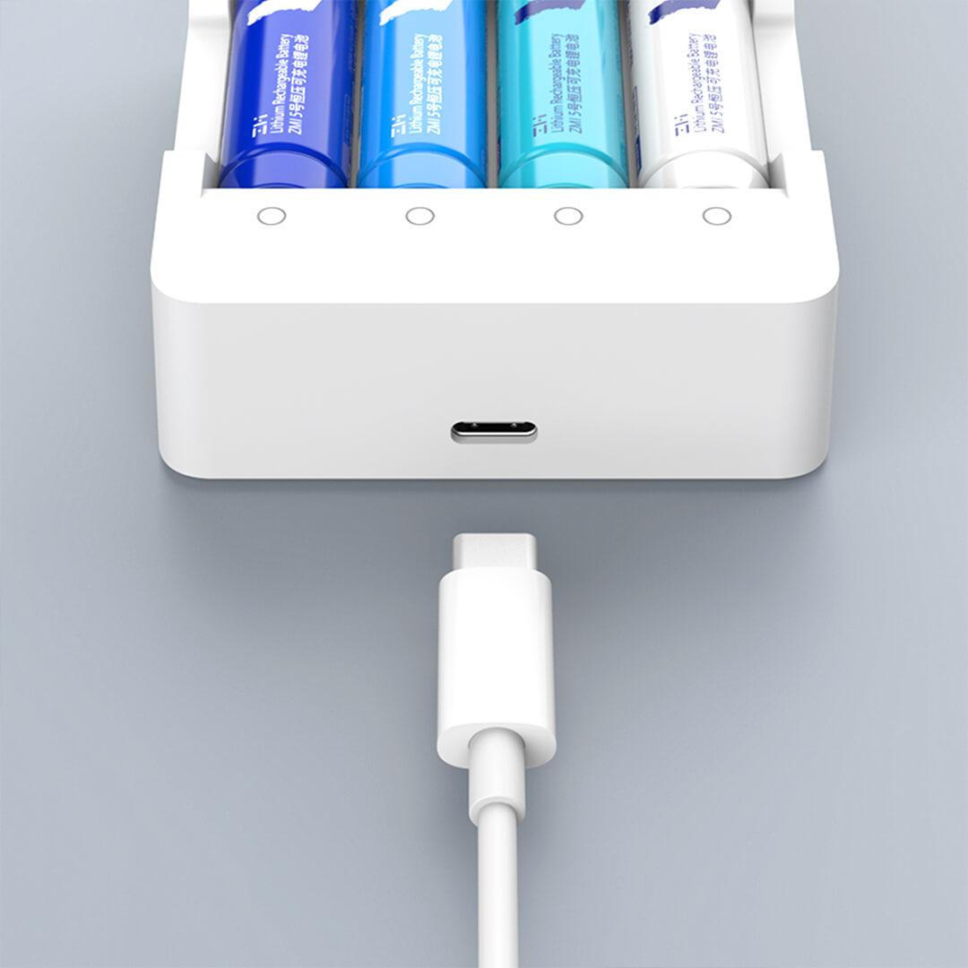 ZMI紫米5号可充电锂电池+充电器(套装)
