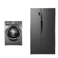 Ronshen 容声 净系列 冰洗套装 BCD-536WD18HP 变频对开门冰箱 536L +RG10146D 滚筒洗衣机 10kg