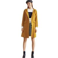 Eifini 伊芙丽 女士羊毛中长款纯色长袖大衣 黄色M