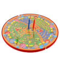磁性迷宫运笔迷宫儿童益智力3-4-5-6-8岁木质宝宝早教飞行棋玩具
