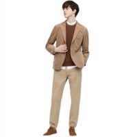 UNIQLO 优衣库 男士纯色束脚运动长裤430232 深米色XXXL