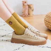俞兆林袜子女士中筒袜秋冬加绒加厚毛圈袜毛巾长袜纯色地板袜可爱棕熊棉袜 小熊毛圈-随机10双