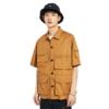 PEACEBIRD 太平鸟 男士宽松纯棉多口袋工装短袖衬衫BWCCA2618