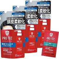 中亚prime 狮王旗下PRO TEC控油男用洗发水替换装   230g ×3袋装