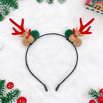 爱流行圣诞节头饰鹿角发箍儿童发夹韩国可爱小鹿头箍成人发卡