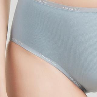 DAPU 大朴 女士英文印花无痕三角内裤 AE6N0221 灰蓝 XL
