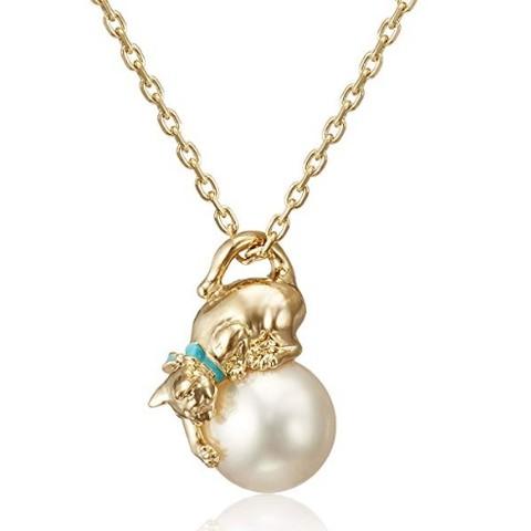 超值黑五:VENDOME BOUTIQUE VBTP220355DW  女士猫咪珍珠项链