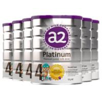 超值黑五、银联爆品日:a2 艾尔 婴幼儿白金系列配方奶粉 4段 900g*6罐