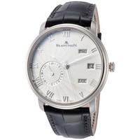 超值黑五、银联爆品日:BLANCPAIN 宝珀 Villeret系列 6670-1542-55B 男士两地时机械腕表