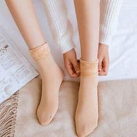 CHANSUNRUN 虔生缘 女士加厚雪地袜 4双装 多色可选