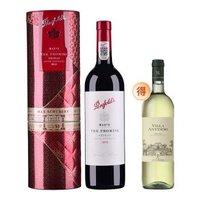 Penfolds max's 奔富麦克斯 大师承诺礼盒贺岁版西拉干红葡萄酒 750ml*1+安东尼庄园干白葡萄酒750ml