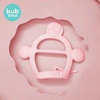 可优比(KUB)婴儿咬牙胶硅胶磨牙棒软胶可水煮玩具宝宝防吃手神器藕荷粉 (带收纳盒)+凑单品