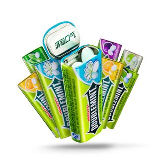 绿箭薄荷糖铁盒装约35粒8瓶装口香糖口气清新休闲零食糖果多口味(【冰柠味+茉莉花味+薄荷味+黑加仑味】*2)