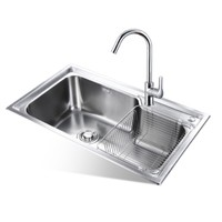 1日0点:JOMOO 九牧 02228 不锈钢厨房水槽配龙头套餐
