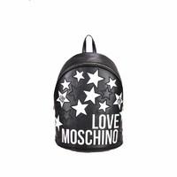 LOVE MOSCHINO 爱莫斯奇诺 JC4086 满星刺绣logo背包休闲包