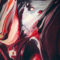 何俊艺 《什么系列2013—13》限量艺术版画 客厅装饰画 金色框 画框尺寸50*50