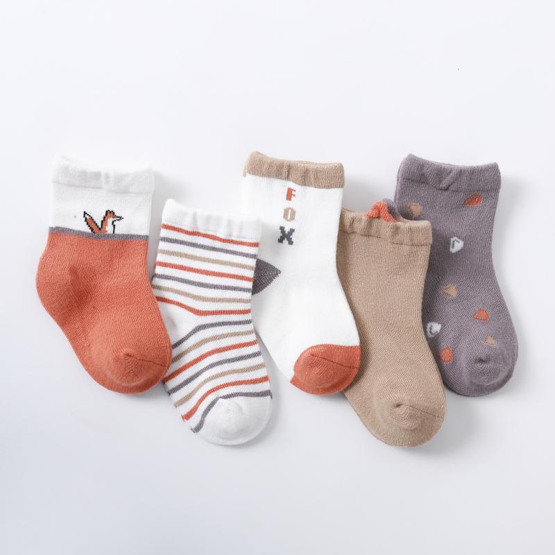 馨颂 宝宝精梳棉袜子 5双装