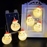 荣彩 圣诞节红帽雪人小灯串 2米 电池款