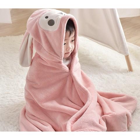 豌豆荚 儿童斗篷带帽浴巾 65*110cm