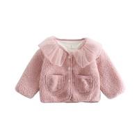 微信端:瑄妮薇 女童羊羔绒娃娃领外套