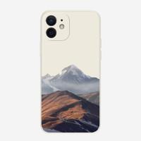 紫色回忆 iPhone12系列 直边液态硅胶手机壳