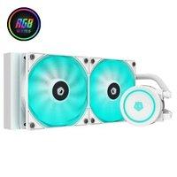 ID-COOLING 120/240/360 神光同步 12V4针 RGB一体式CPU水冷散热器 AURAFLOW X 240 SNOW