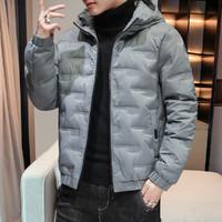 德尔惠冬季男士外套加厚保暖棉服开衫连帽运动上衣个性青年学生
