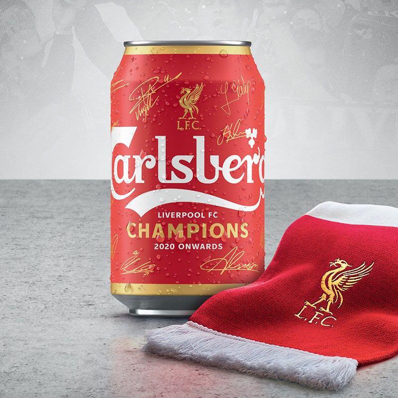 嘉士伯(Carlsberg)啤酒 利物浦冠军限量罐 330ml*24听 (买2送1) *2件
