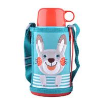 TIGER 虎牌 MBR-B06G-AR 不锈钢直饮保温水杯 600ml 小兔子