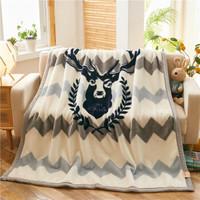 柚菲  拉舍尔毛毯被子加厚保暖 森林鹿(拉舍尔毛毯) 140*190cm3斤