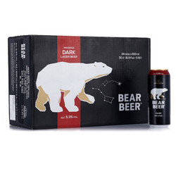 BearBeer 豪铂熊 豪铂熊黑啤酒 500ml*24听 *3件