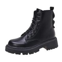 松豆 2020新款增高短靴ins潮拉链 拉链 36