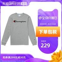 CHAMPION 冠军 T3822-549465 男女同款纯棉圆领长袖T恤 *2件