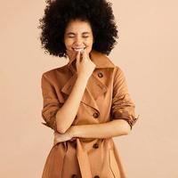 超值黑五、银联爆品日:Brooks Brothers/布克兄弟 红绒系列 女士弹力斜纹风衣外套